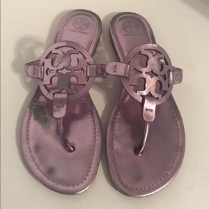 Tory Burch Metallic Purple Miller Leather 10